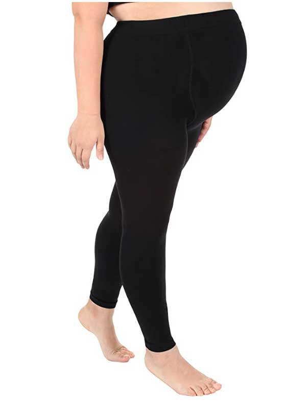 New Womens Plus-size Maternity Leggings Soft Elastic Maternity Compression Stockings Belly Support Stirrup Leggings